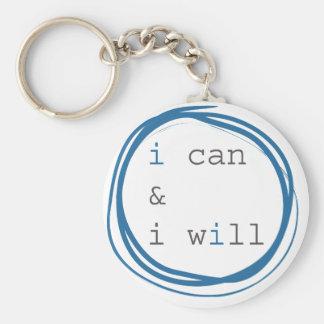 Je peux et je vais le faire porte-clé rond