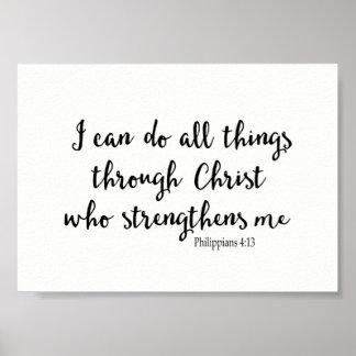 Je peux faire tout des choses par le Christ qui Poster