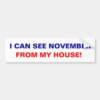 Je peux voir novembre de ma maison ! autocollant de voiture