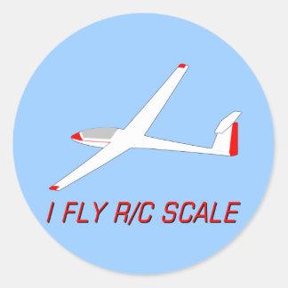 Je pilote l'échelle de R/C Adhésif Rond