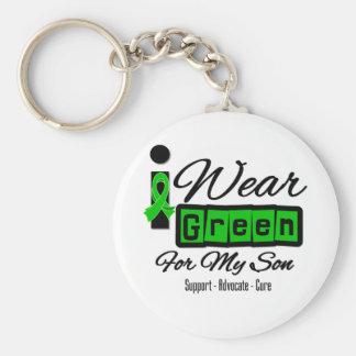 Je porte le fils vert de ruban (rétro) - porte-clé rond