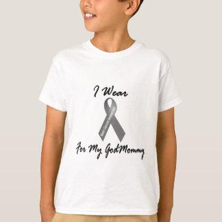 Je porte le gris pour mon Godmommy 1 cancer du T-shirt