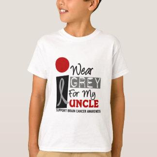 Je porte le gris pour mon oncle 9 CANCER DU T-shirt