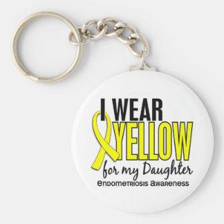 Je porte le jaune pour ma endométriose de la fille porte-clé rond