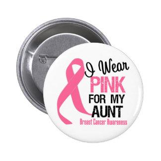 Je porte le rose pour ma tante badges