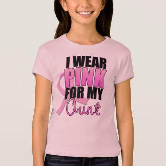 Je porte le rose pour ma tante t-shirt