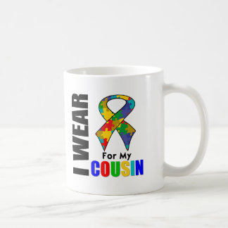Je porte le ruban d'autisme pour mon cousin tasse
