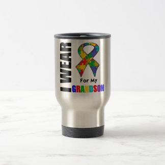 Je porte le ruban d'autisme pour mon petit-fils mug à café