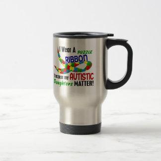 Je porte le ruban de puzzle pour mon AUTISME des f Mugs À Café