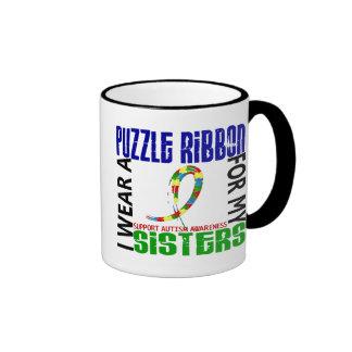 Je porte le ruban de puzzle pour mon autisme des s mug