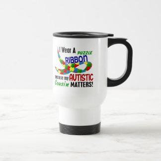 Je porte le ruban de puzzle pour mon AUTISME du co Tasses À Café