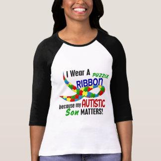 Je porte le ruban de puzzle pour mon T-shirts