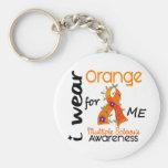 Je porte l'orange pour moi sclérose en plaques de  porte-clefs