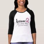 Je porte un cancer du sein personnalisable de t-shirts