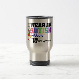 Je porte un ruban d'autisme pour ma petite-fille tasses