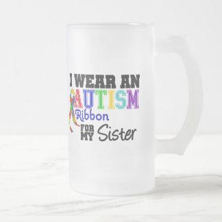 Je porte un ruban d'autisme pour ma soeur tasse à café
