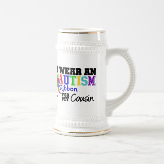 Je porte un ruban d'autisme pour mon cousin mugs à café