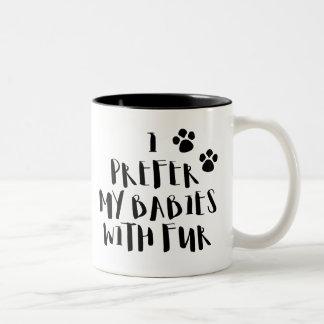 Je préfère mes bébés avec la tasse de café