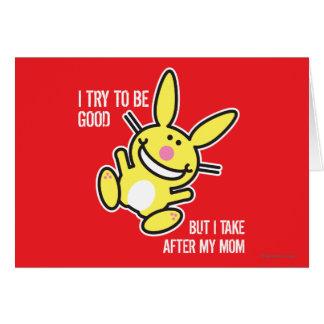 Je prends après ma maman carte de vœux
