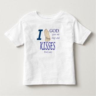 Je prie Dieu me donne des étreintes et embrasse T-shirt Pour Les Tous Petits