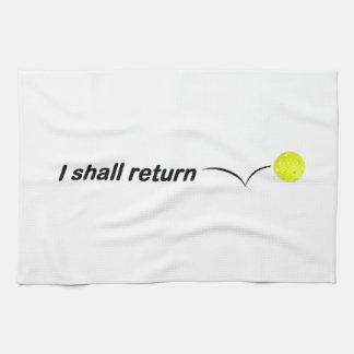 Je renverrai la serviette extérieure de Pickleball