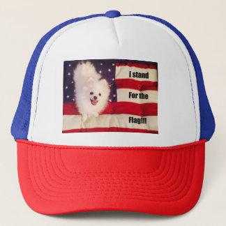 Je représente le casquette de drapeau