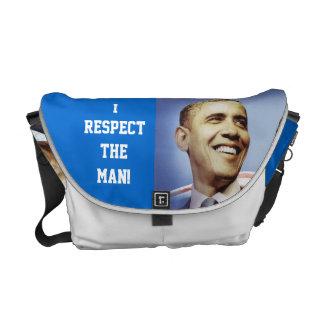 JE RESPECTE le sac de BARACK OBAMA Besaces