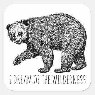 Je rêve des autocollants d'ours de région sauvage