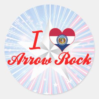 Je roche de flèche d'amour, Missouri Autocollants Ronds