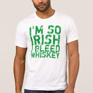Je saigne le T-shirt de whiskey