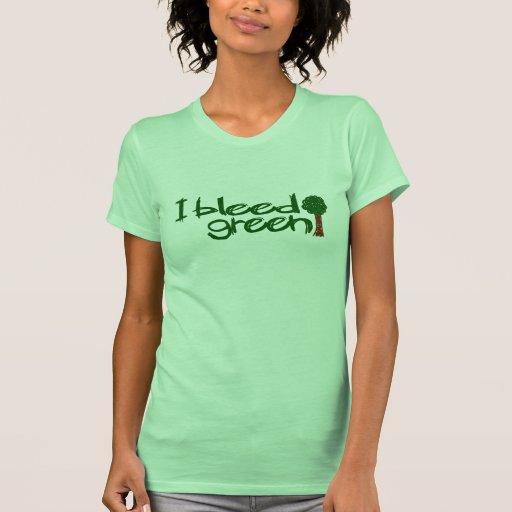 Je saigne le vert t-shirts