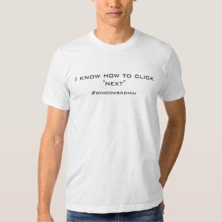 Je sais cliquer sur après t-shirt
