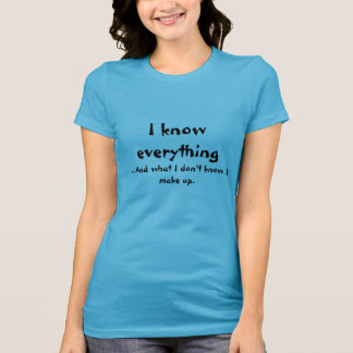 Je sais tout t-shirt