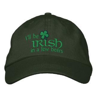 Je serai irlandais en quelques bières casquette brodée
