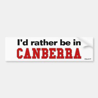 Je serais plutôt à Canberra Autocollant De Voiture