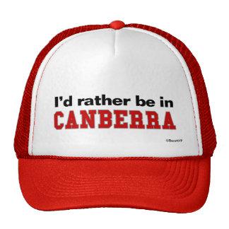 Je serais plutôt à Canberra Casquette