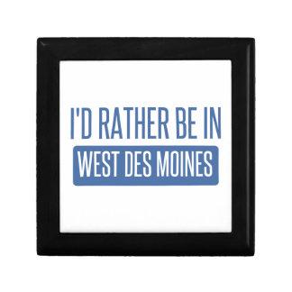 Je serais plutôt à Des Moines occidental Petite Boîte À Bijoux Carrée