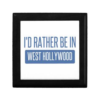 Je serais plutôt à Hollywood occidental Petite Boîte À Bijoux Carrée