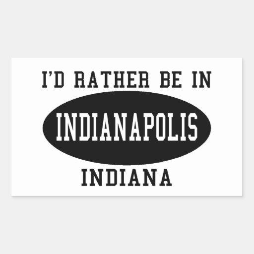 Je serais plutôt à Indianapolis Autocollants En Rectangle