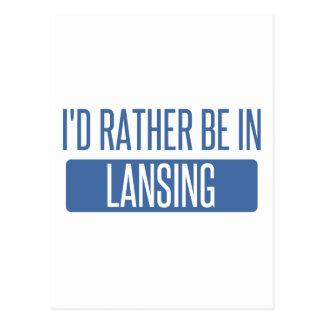 Je serais plutôt à Lansing Cartes Postales