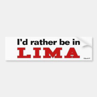 Je serais plutôt à Lima Autocollant Pour Voiture