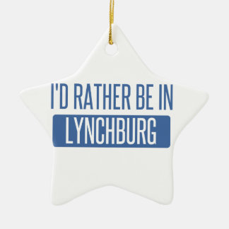 Je serais plutôt à Lynchburg Ornement Étoile En Céramique
