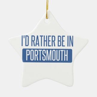 Je serais plutôt à Portsmouth Ornement Étoile En Céramique