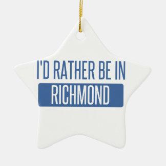 Je serais plutôt à Richmond VA Ornement Étoile En Céramique