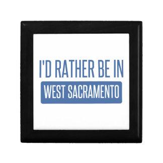 Je serais plutôt à Sacramento occidental Petite Boîte À Bijoux Carrée