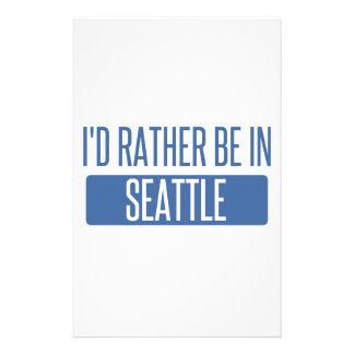 Je serais plutôt à Seattle Papier À Lettre Personnalisé