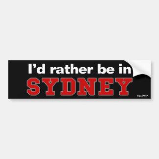 Je serais plutôt à Sydney Autocollant Pour Voiture
