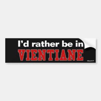 Je serais plutôt à Vientiane Autocollant De Voiture