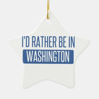Je serais plutôt à Washington Ornement Étoile En Céramique
