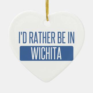 Je serais plutôt à Wichita Ornement Cœur En Céramique